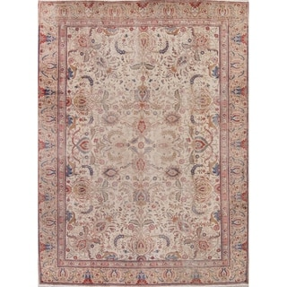 """Gracewood Hollow Metsarents Tabriz Blend Knotted Hand Knotted Wool Rug - 11'3"""" x 8'1"""""""