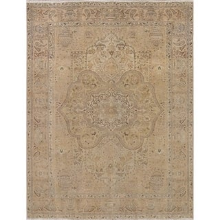 """Gracewood Hollow Boissiere Hand-knotted Distressed Wool Persian Area Rug - 11'2"""" x 8'0"""""""