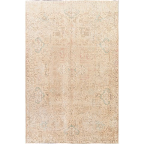 Gracewood Hollow Behr Hand-knotted Wool Distressed Area Rug - 10'7 x 7'3