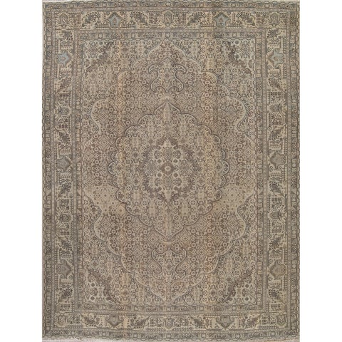 Gracewood Hollow Kagwema Hand-knotted Wool Distressed Area Rug - 12'5 x 9'6