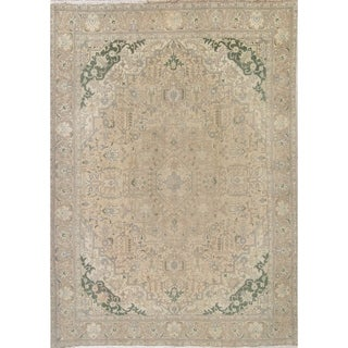 """Gracewood Hollow Kibacha Hand-knotted Wool Distressed Area Rug - 12'8"""" x 9'9"""""""