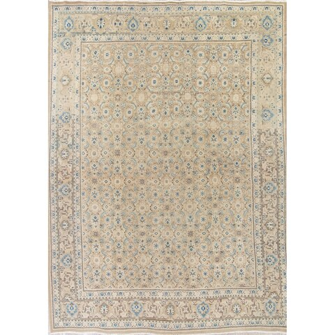 Gracewood Hollow Hussein Hand-knotted Wool Distressed Area Rug - 12'4 x 9'1