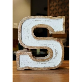 Decoriny Kapako Free Standing White Filled Letter Block