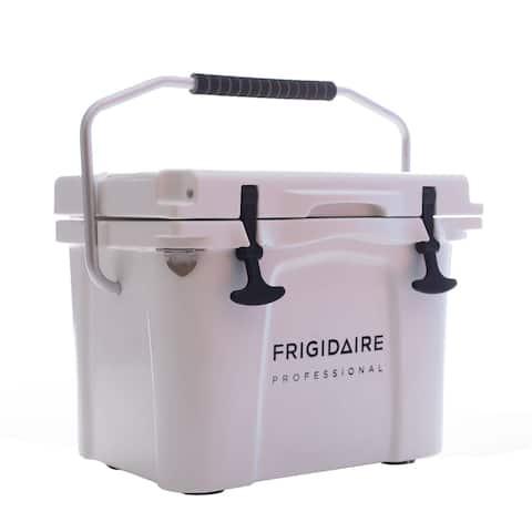 Frigidaire Professional 22-Qt. Roto-Molded Hard Cooler, Polar White