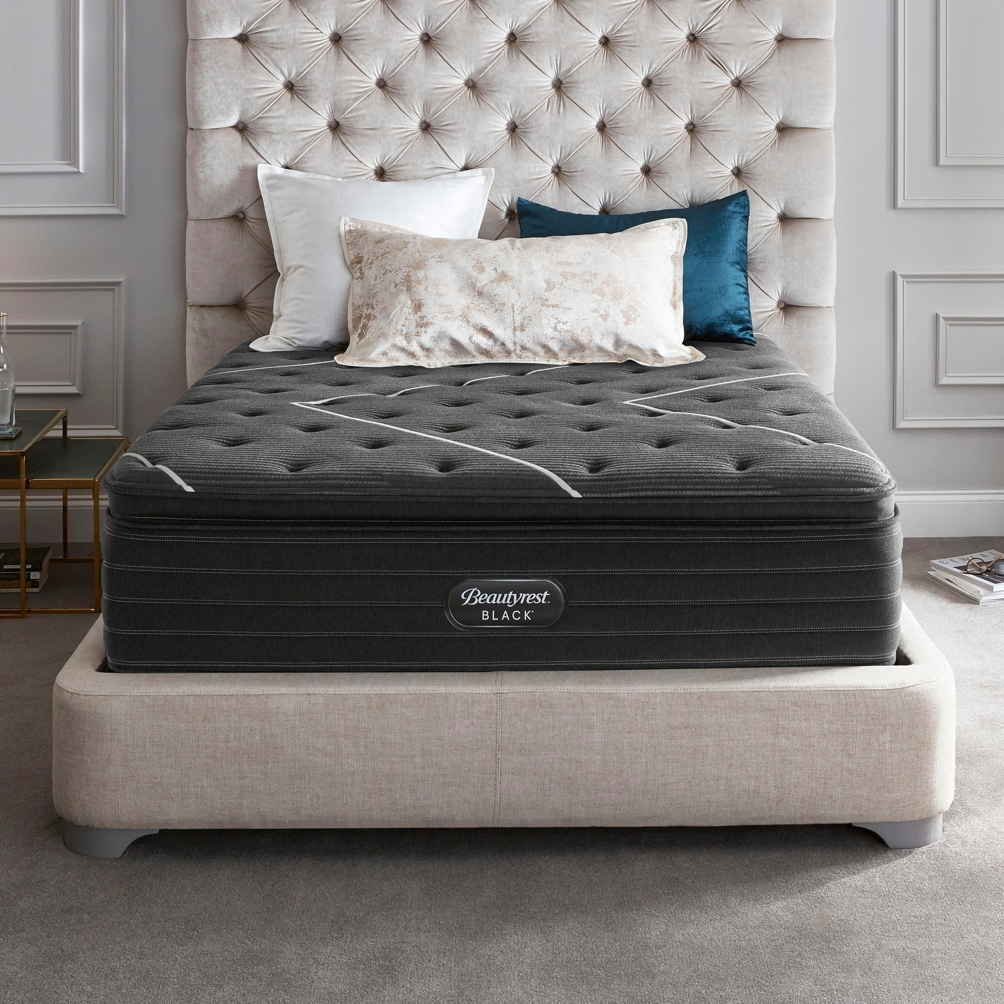 Beautyrest Black K-Class 17-inch Firm Pillow Top Mattress Set (Queen - Low Profile)