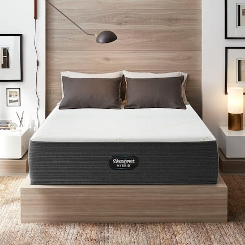 Beautyrest Hybrid BRX3000-IM 14-inch Plush Hybrid Mattress Set