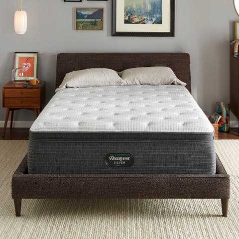 Beautyrest Silver BRS900-C 16-inch Plush Pillow Top Mattress Set