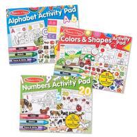 Activity Pad Bundle - Alphabet, Colors & Shapes & Numbers
