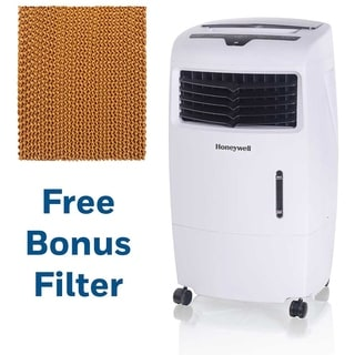 Honeywell 500 CFM Indoor Evaporative Air Cooler in White with Remote Control and an Extra Honeycomb Filter