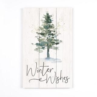 Winter Wishes Pallet Decor