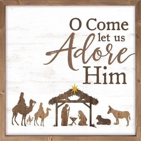 Oh Come Let Us Adore Him Framed Art