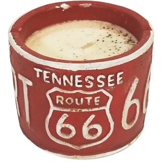 American Highway License Plate TN Vanilla Pound Cake Round Candle