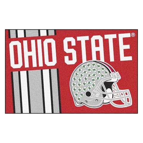 "Ohio State University Uniform Starter Mat 19""x30"" - 1'7"" x 2'6"""
