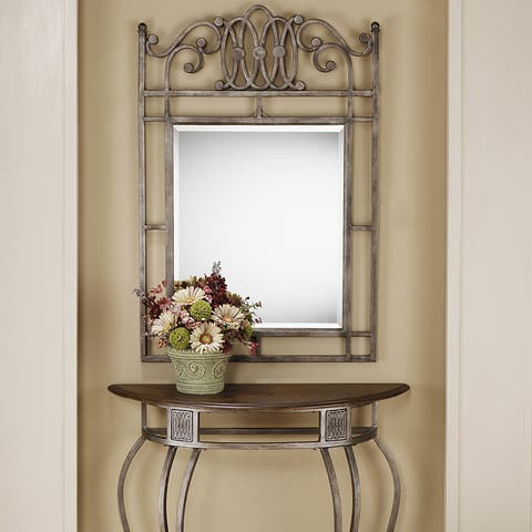 Copper Grove Ems Brown and Grey Console Mirror