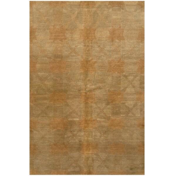 Handmade One-of-a-Kind Tibetan Wool Rug (India) - 6' x 8'10