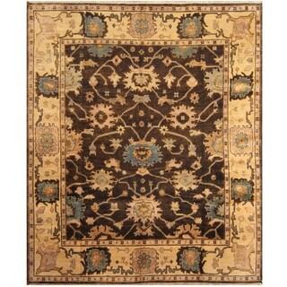 Handmade One-of-a-Kind Mahal Wool Rug (India) - 8'1 x 9'8