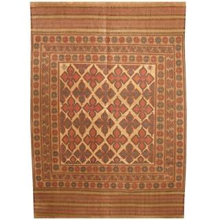 Handmade One-of-a-Kind Wool Kilim (Afghanistan) - 6'3 x 8'8