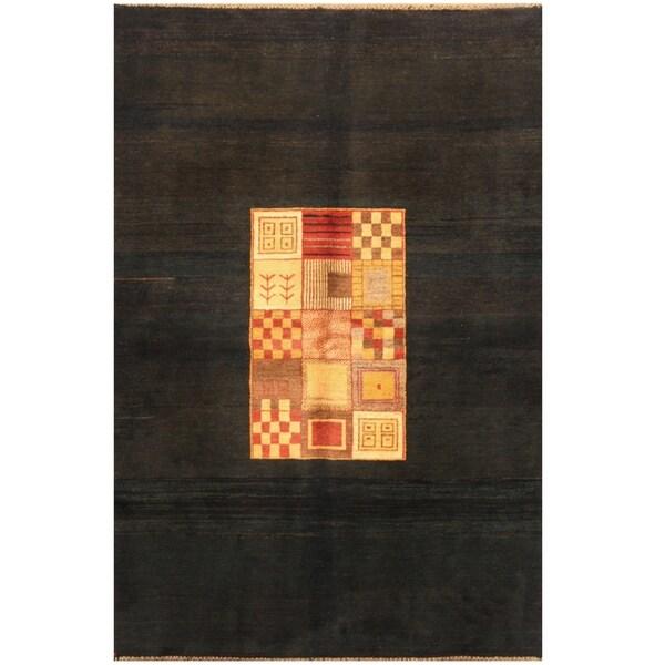 Handmade One-of-a-Kind Gabbeh Wool Rug (Iran) - 5'9 x 8'4