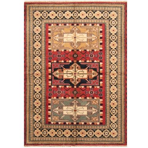 Handmade One-of-a-Kind Kazak Wool Rug (India) - 5'8 x 8'