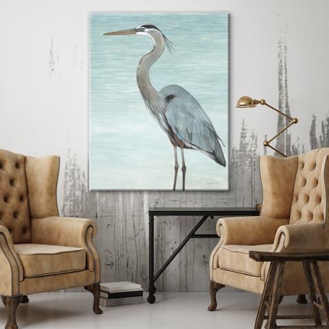 Porch & Den 'Great Blue Heron' Gallery Wrapped Canvas