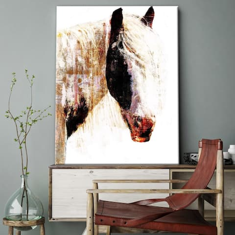 Porch & Den Painted Horse Abstract Gallery Wrapped Canvas