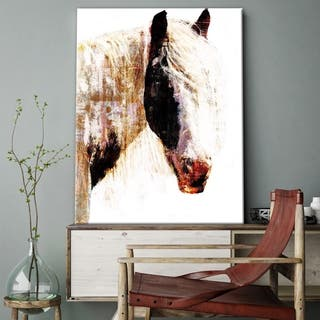 Porch & Den 'Painted Horse' Abstract Gallery Wrapped Canvas