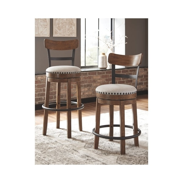 Valebeck Bar Height Swivel Barstool - Brown. Opens flyout.