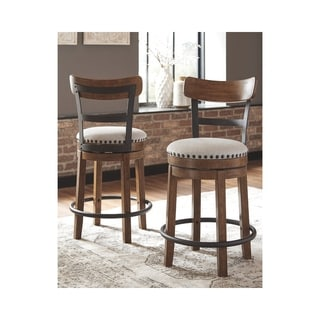 Valebeck Counter Height Swivel Barstool - Brown - N/A