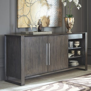 Strick & Bolton Vignola Grey Wood Dining Room Server