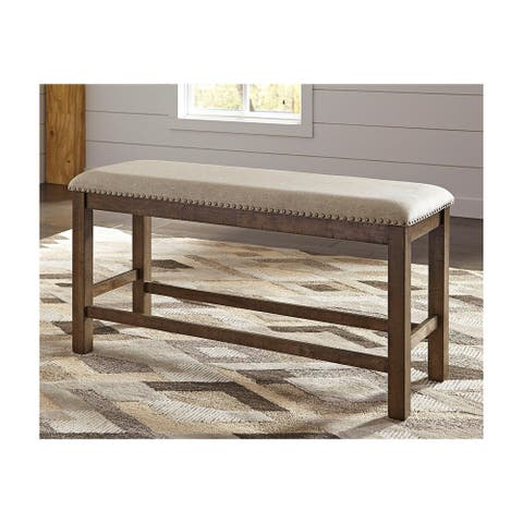 Moriville Counter Height Dining Bench - Beige/Brown