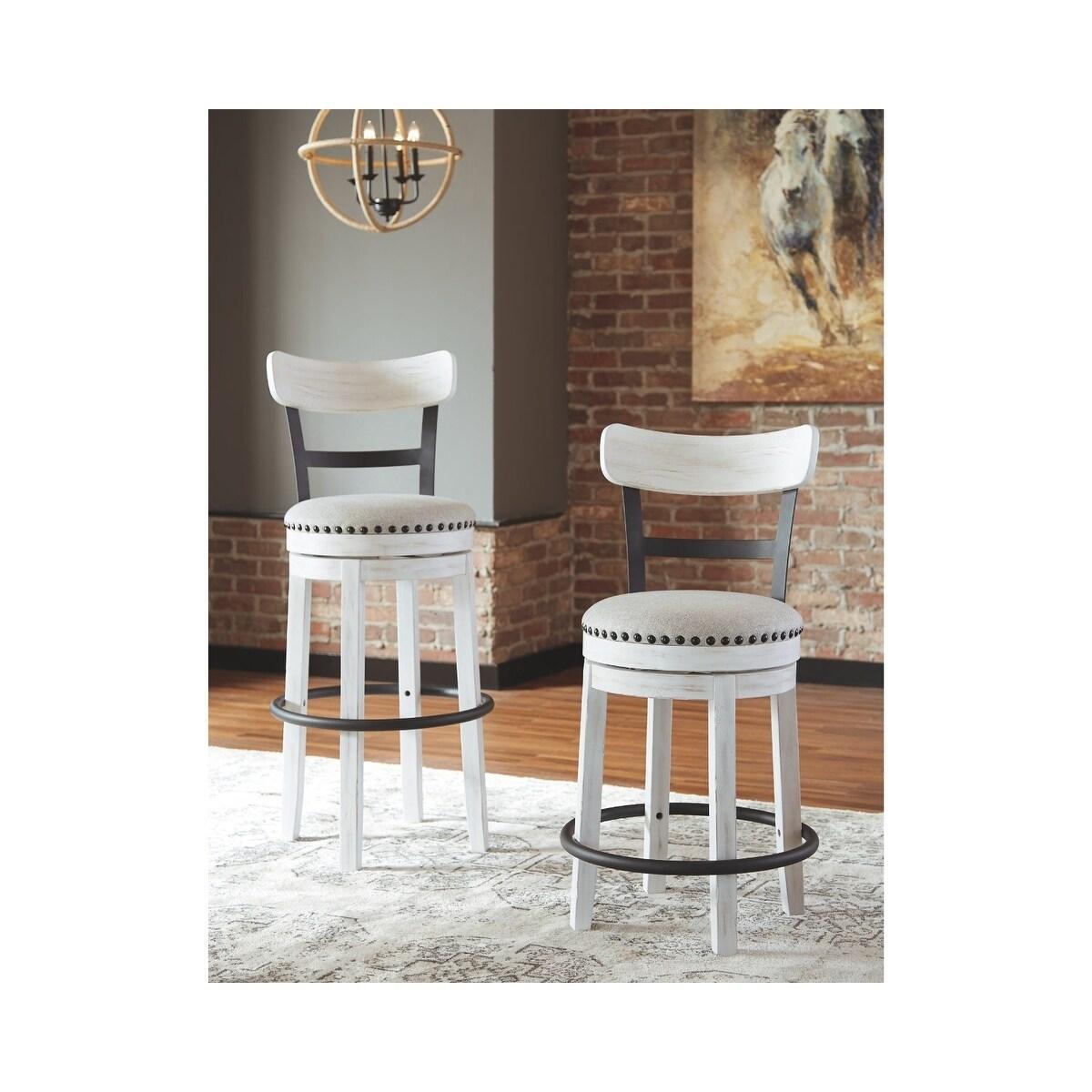 Phenomenal Valebeck Bar Height Swivel Barstool White Uwap Interior Chair Design Uwaporg