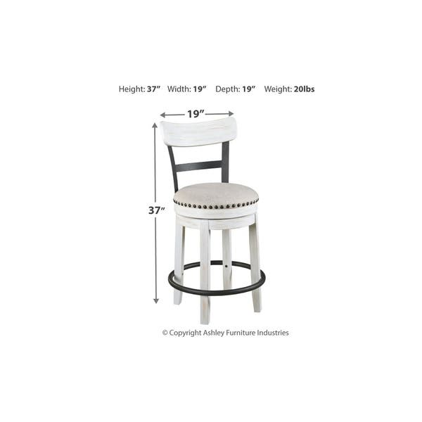 Amazing Shop Valebeck Counter Height Swivel Barstool White N A Unemploymentrelief Wooden Chair Designs For Living Room Unemploymentrelieforg