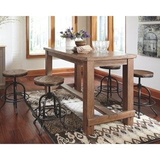 Carbon Loft Sircar Light Brown Wood Counter Height Dining Room Table