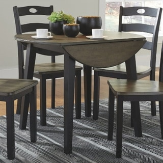 Link to The Gray Barn Earth Dance Brown and Black Wood Round Drop Leaf Table Similar Items in Dining Room & Bar Furniture