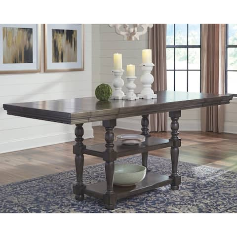 Audberry Counter Height Extension Table - Dark Gray