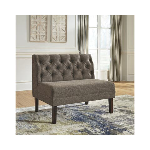Tripton Large Upholstered Dining Room Bench - Graphite - N/A