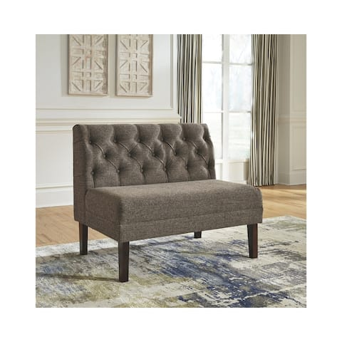 Tripton Large Upholstered Dining Room Bench - Graphite