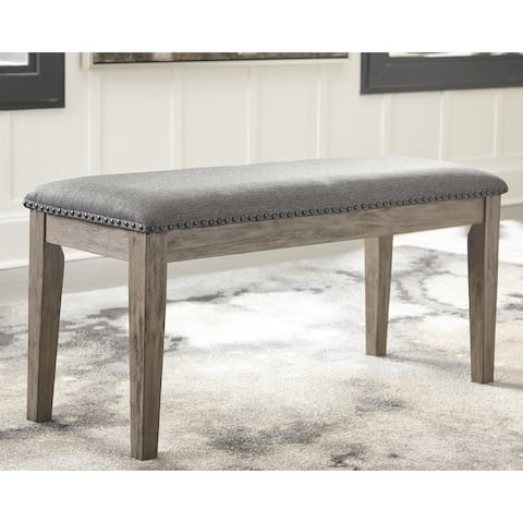 Aldwin Upholstered Bench - Antique Gray - N/A