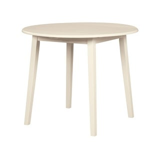 Slannery Round Drop Leaf Table - White