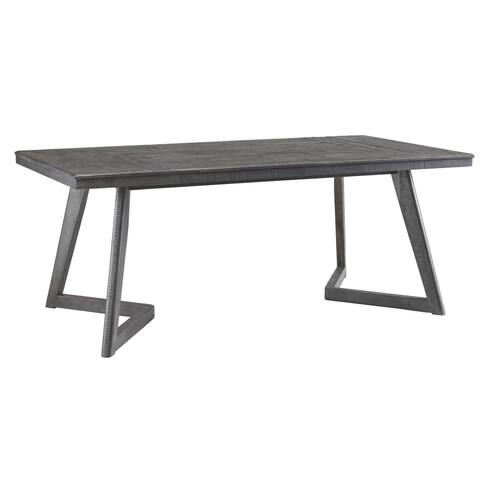 Signature Design by Ashley Besteneer Dark Grey Wood Rectangular Dining Room Table