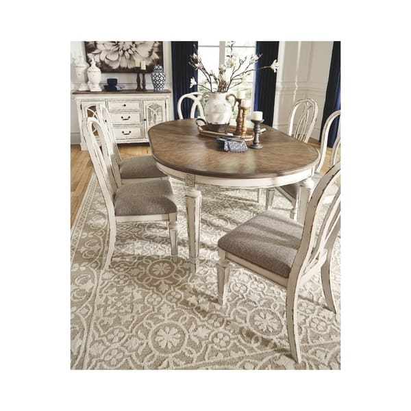 Realyn Oval Dining Room Extension Table Chipped White Overstock 28029435