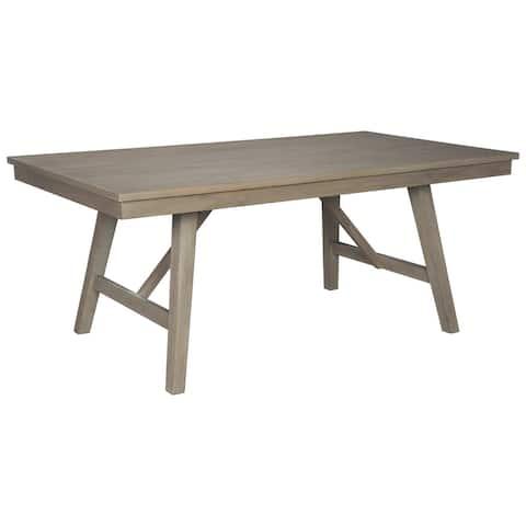 Aldwin Grey Wood Rectangular Dining Room Table