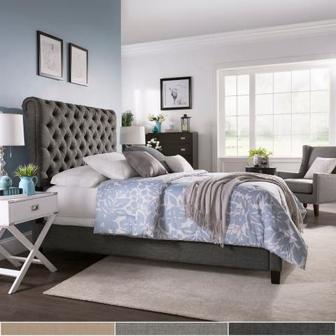 Copper Grove Zvenyhorodka Adjustable Tufted Roll-top Queen Bed
