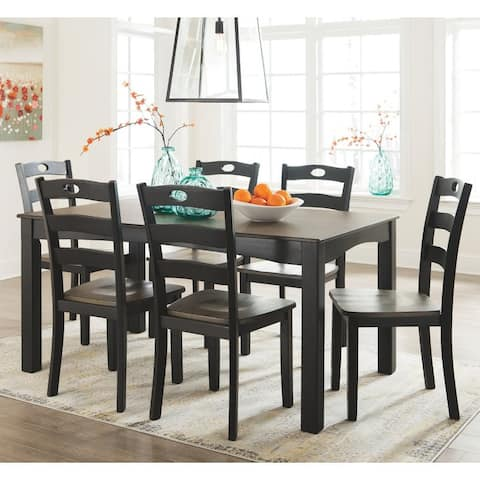 The Gray Barn Earth Dance Dining Room 7-piece Black and Brown Table Set
