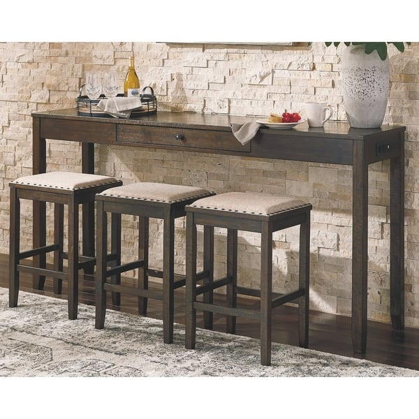 The Gray Barn Yewbank Rectangular 4 Piece Counter Height Dining Set On Sale Overstock 28029466