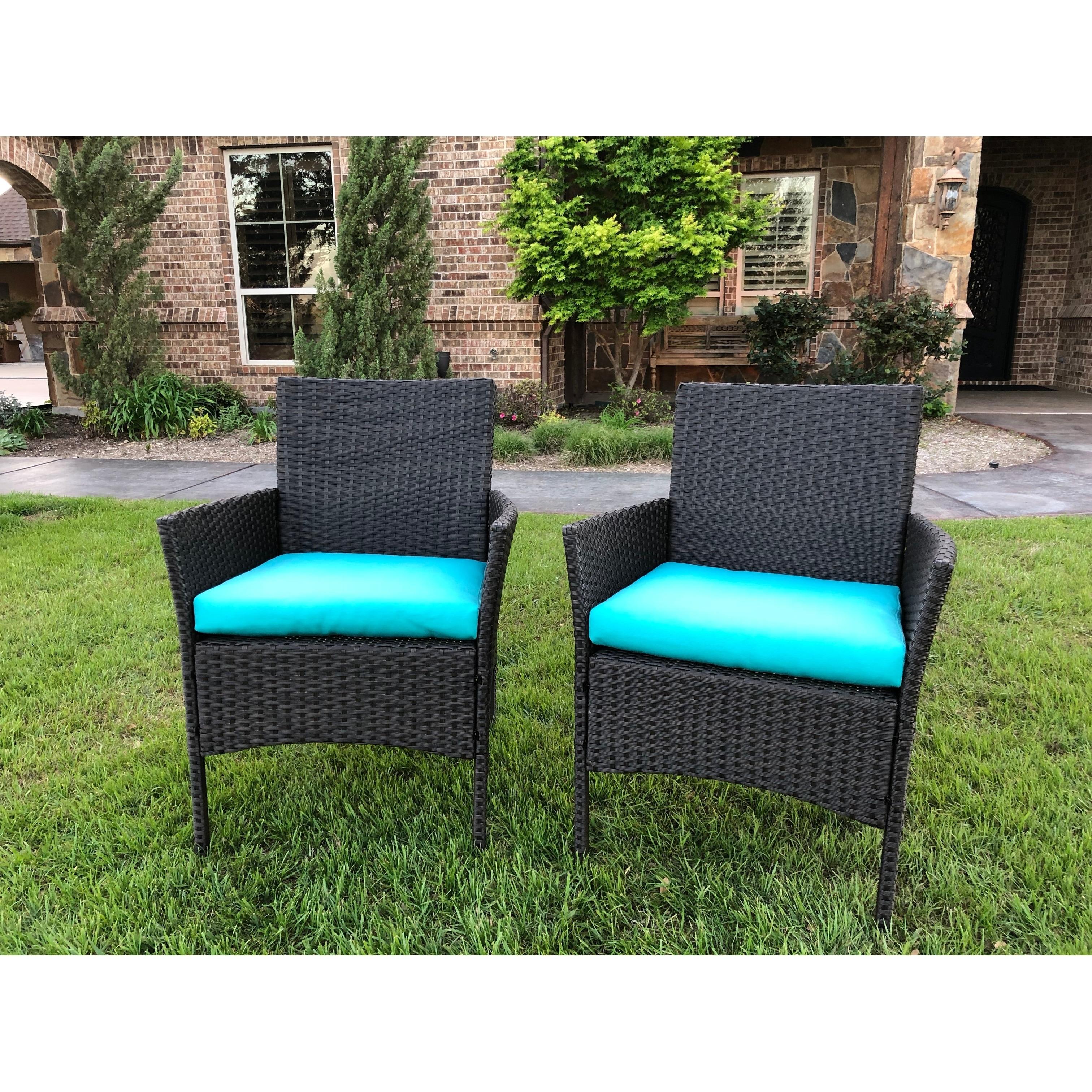 International Caravan Majorca Resin Wicker Patio Dining Chair Set Of 2 Overstock 28029470