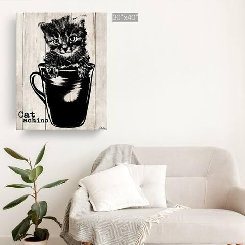 Porch & Den 'Catachino' Wrapped Canvas Wall Art