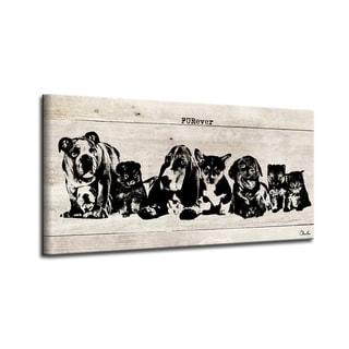 Porch & Den 'FURever' Wrapped Canvas Wall Art