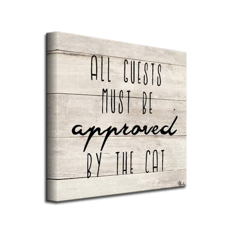 Porch & Den 'Cat Approved' Wrapped Canvas Wall Art