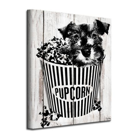 Porch & Den 'Pupcorn' Wrapped Canvas Wall Art